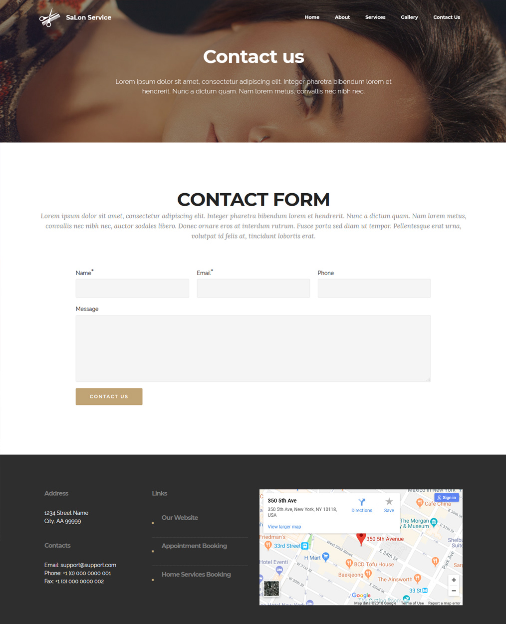 Bootstrap Contact Page Template Choice Image - Free Templates For ...