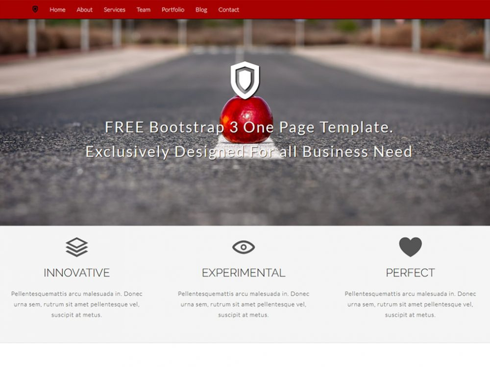 Bootstrap 3 Templates | Focused Free One Page Bootstrap 3 Template Bootstrap Templates