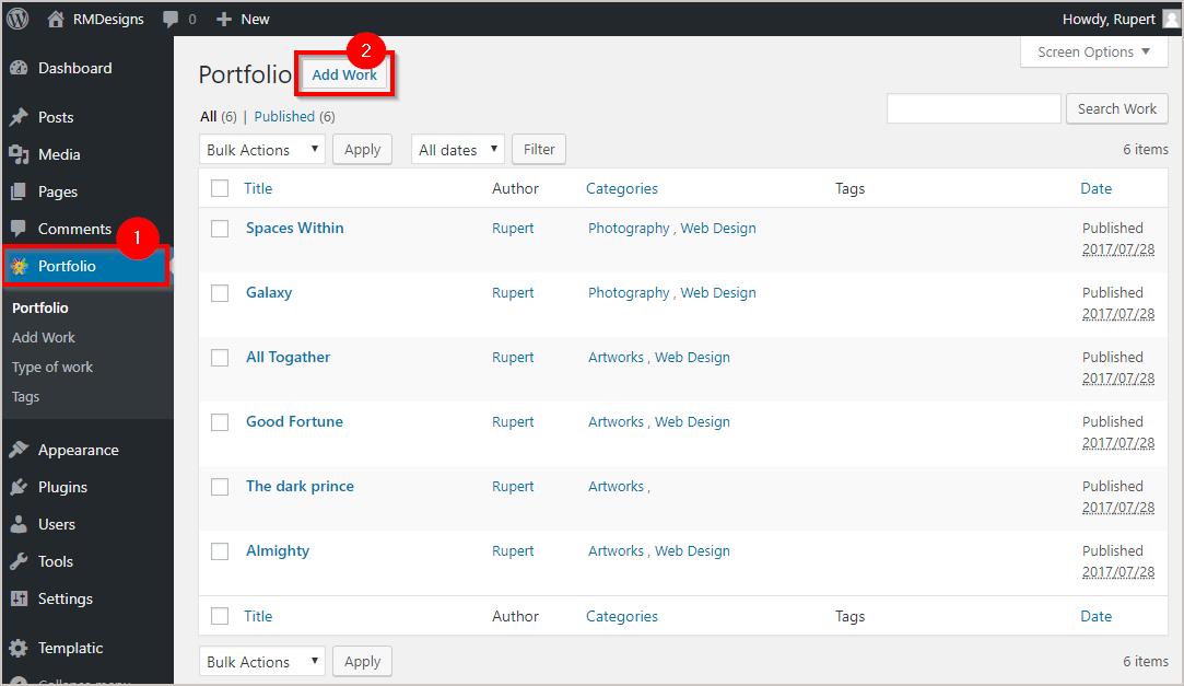 How to Create a Portfolio website on WordPress easily 7