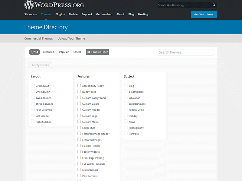 What are Tags on WordPress org/themes section and what do