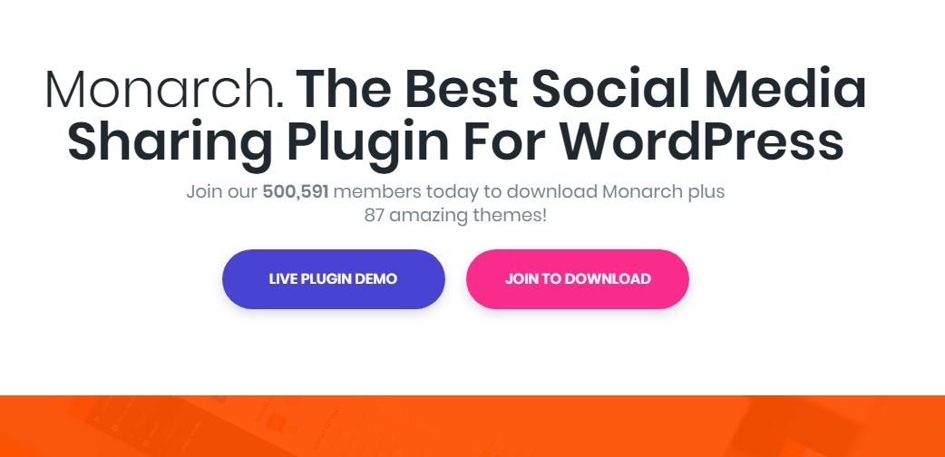 Monarch social sharing plugin by Elegant themes