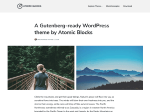 Atomic Free WordPress theme