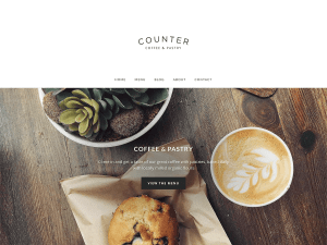 Counter Free WordPress theme
