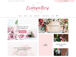 Crimson Free WordPress theme