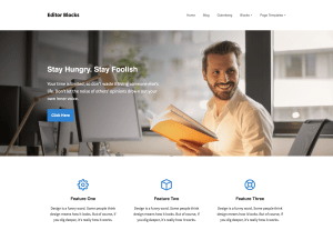 Editor Free WordPress theme