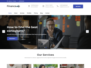 Finance Free WordPress theme