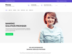 Fincorp Free WordPress theme