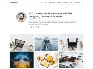 Foliopress Free WordPress theme