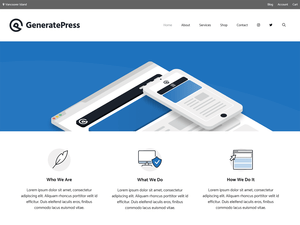 Generate Free WordPress theme