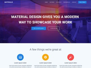 Materials Free WordPress theme