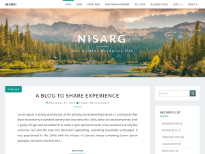 Nisarg Free WordPress themes