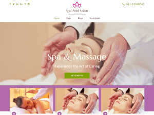 Spa Free WordPress theme