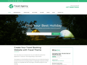 Travel Free WordPress theme