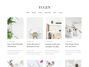 Yugen Free WordPress theme